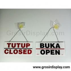 Papan Gantungan Akrilik Open Close Toko Butik