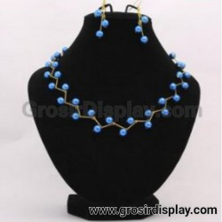 Display Kalung Medium Bludru Set Anting Pajangan Display Toko Perlengkapan Seserahan