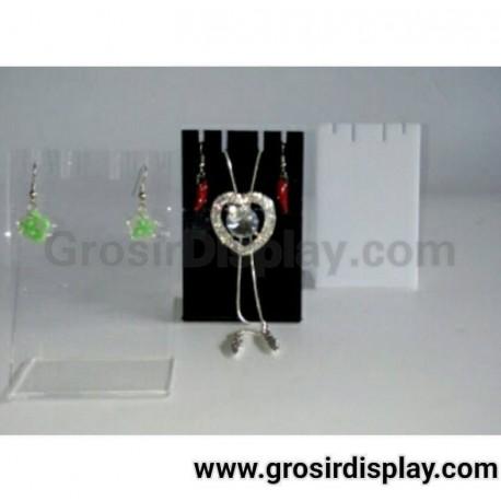 Akrilik Mini Display Aksesoris Pajangan Anting Kalung Perhiasan