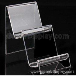 Akrilik Tangga 2 Susun Medium Display Tas Pajangan Sompet Perlengkapan Toko