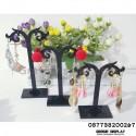 Akrilik Display Anting Giwang Set Isi 3 Pohon Y Mini Hitam