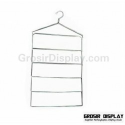 Hanger Jilbab Kerudung Syal S Kotak Krom Display Toko Butik