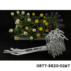 Gantungan Toko Hp Aksesoris Handphone Hook Ram putih 20 cm