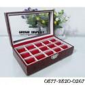 Kotak Tempat Cincin Kaca Croco Isi 15 Batu Akik Ring Aksesoris Perhiasan