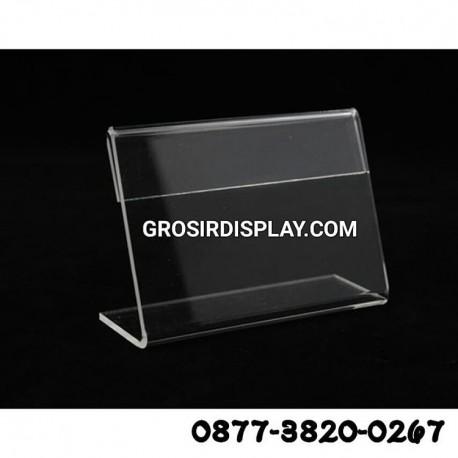 Acrylic Kartu Nama 9 x 6 cm 1 Sisi Akrilik Stand Kartu Nama
