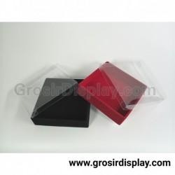 Kotak Perhiasan 10x10 Kalung Anting Cincin Aksesoris Box Nampan Kotak Bludru Medium