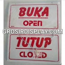 Papan Open Close Buka Tutup Akrilik Butik Toko