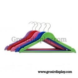 Hanger Kayu Dewasa Palang Warna Gantungan Baju Perlengkapan Butik