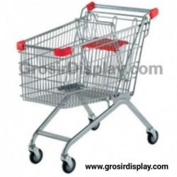 Troli Supermarket Shopping Trolley 180 Liter Troli Belanja Perlengkapan Toko Supermarket