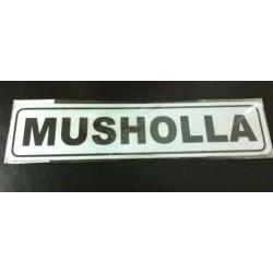 Sticker Petunjuk Peringatan Tempat Ibadah Muslim Sholat Tulisan Mushola