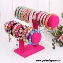 Display Tempat Gelang Jam Tangan Aksesoris Perhiasan Rak Toko 2 Susun