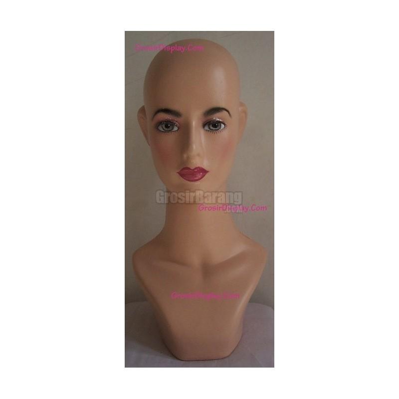 Hangerindo Patung Manekin Kepala Display Kerudung Jilbab Hijab Topi ... b57a9797ac