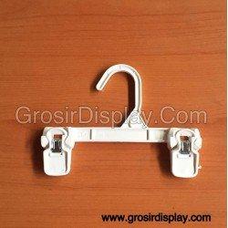 Hanger Jepit Anak Rok Celana Putih 20cm