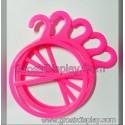 Hanger Jilbab Display Gantungan Kerudung / Syal Bulat Pink isi 2 Butik