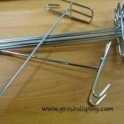 Gantungan Aksesoris Hook Ram Krom Medium 15 cm Display Perlengkapan Toko